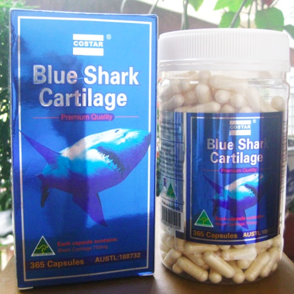 Sụn cá mập Blue Shark Cartilage Úc 750mg Costar 365 Viên